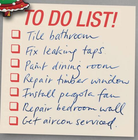 Handyman To Do list